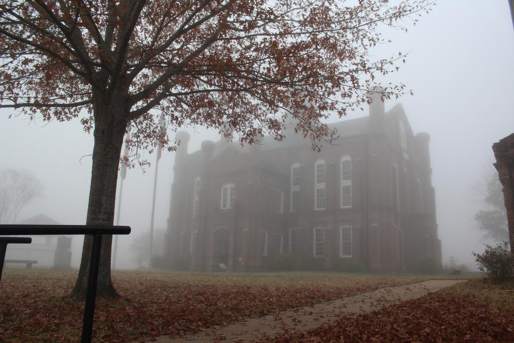 Friday morning scene around the 1885 Historic Shelby County Courthouse.